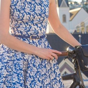 """ModCloth Fit/ Flare """"Luck Be a Lady"""" Bird Dress"""